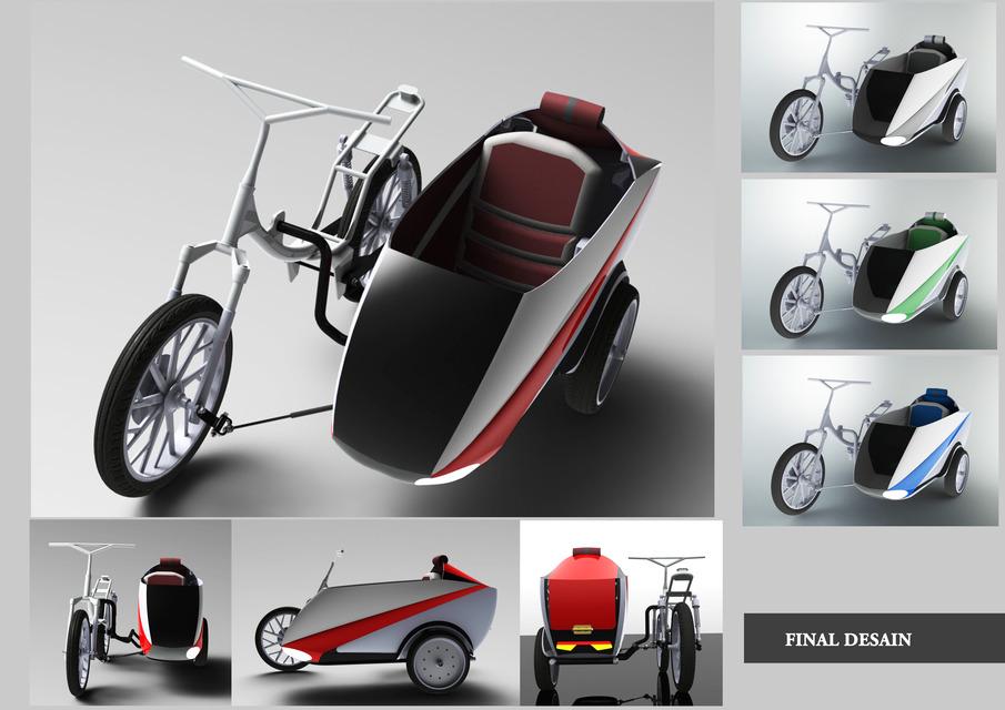 Sidecar for Honda Wave | 3D CAD Model Library | GrabCAD