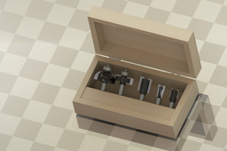 box with cutters for wood
