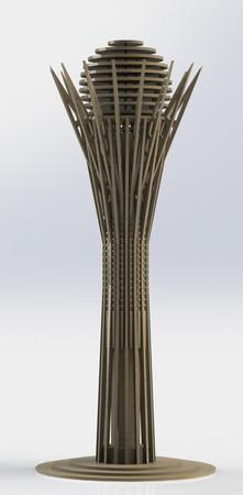 Bayterek monument 3D puzzle