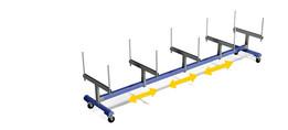 Carro transporte perfiles - profile troley