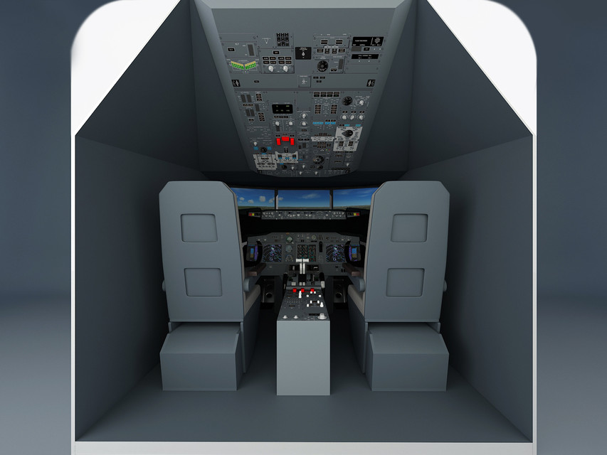 Boeing 737 home cockpit adaptated | 3D CAD Model Library | GrabCAD