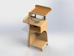 Small Kitchen Prep Counter