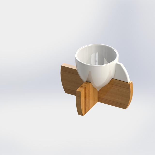Designed Mug   3D CAD Model Library   GrabCAD