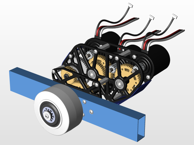 FRC 2 speed gearbox NEO | 3D CAD Model Library | GrabCAD