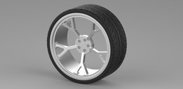 Low profile tyre n alloy