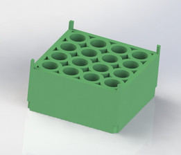 Durable Holding Plate for Centrifuge Tubes