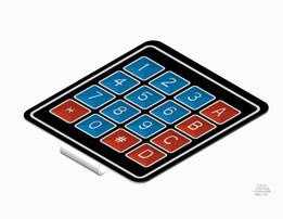 Keypad 4x4 Membrane