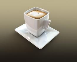Coffee mug and saucer