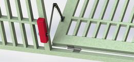 Reja metálica para protección de puerta