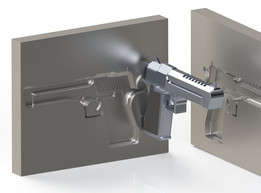 SOLIDWORKS, gun - Recent models | 3D CAD Model Collection