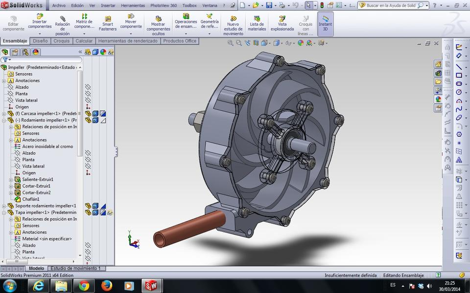 Air Turbine Solidworks 3d Cad Model Grabcad