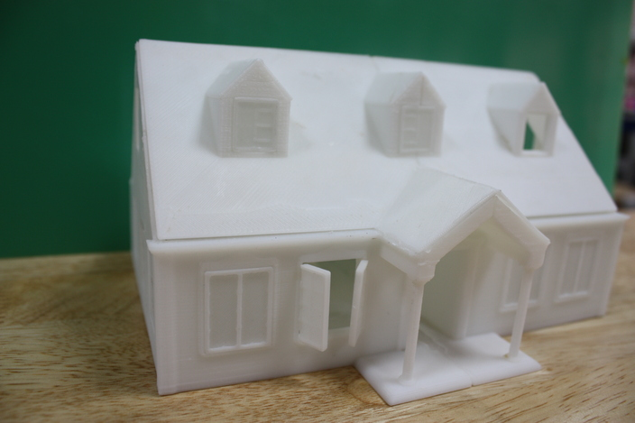 3d Printed House 3d Cad Model Grabcad