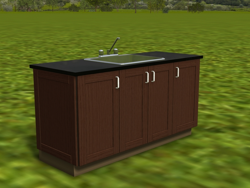outdoor kitchen cabinet 3d cad model library grabcad