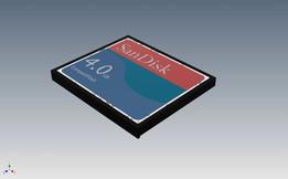 SDCFB-4096-A10, COMPACTFLASH (CF) 4 GB, SANDISK