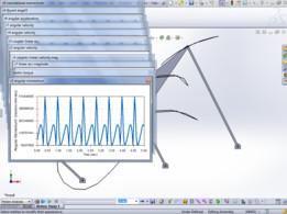 Stephenson III Six-Bar mechanism plus motion study analyses & spreadsheet data