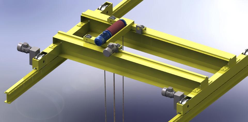 Overhead Crane 3d Cad Model Library Grabcad