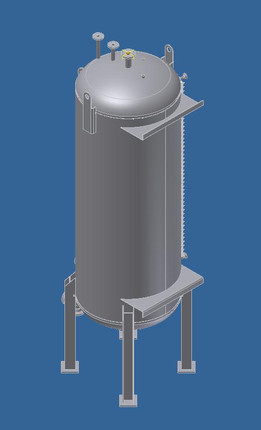 2000 Gallon Vertical Tank