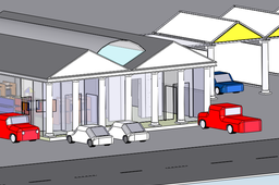 Convenience Store with Car Wash (architectural concept)