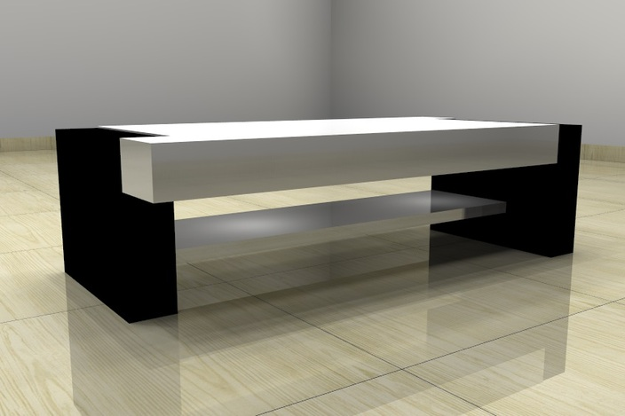Center table sketchup 3d cad model grabcad for Table design sketchup
