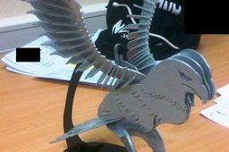 American Bald Eagle, sheet metal puzzle, Bird of Prey, 3d model, 3d puzzle, metalcraftdesign