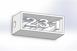 Caixa de numero com suporte LED