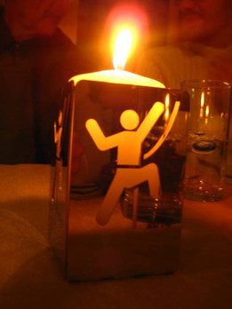 Climber Candle Holder