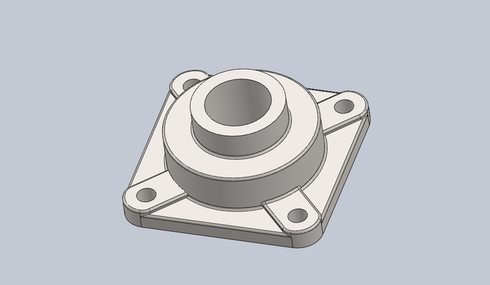 Flanged 4-Bolt Bearing, Eccentric Locking Collar, RCJ (All sizes using design table)