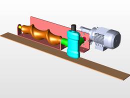 Gearless power transmission + Feeding screw system