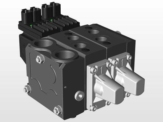 Danfoss PVG32 Control Valve   3D CAD Model Liry   GrabCAD on