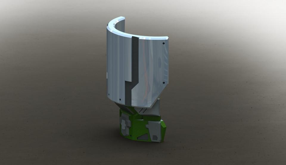 Halo Reach Commando Shoulder | 3D CAD Model Library | GrabCAD