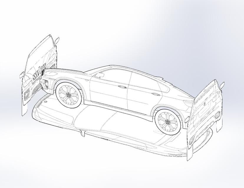 Bmw X6 Blueprints Layout 3d Cad Model Library Grabcad