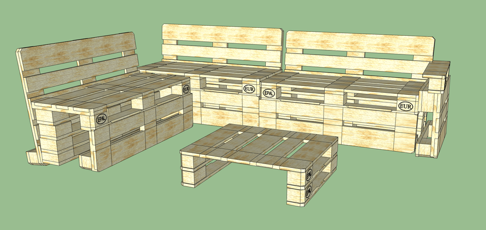 Super Euro Pallet Garden Bank | 3D CAD Model Library | GrabCAD WM-36