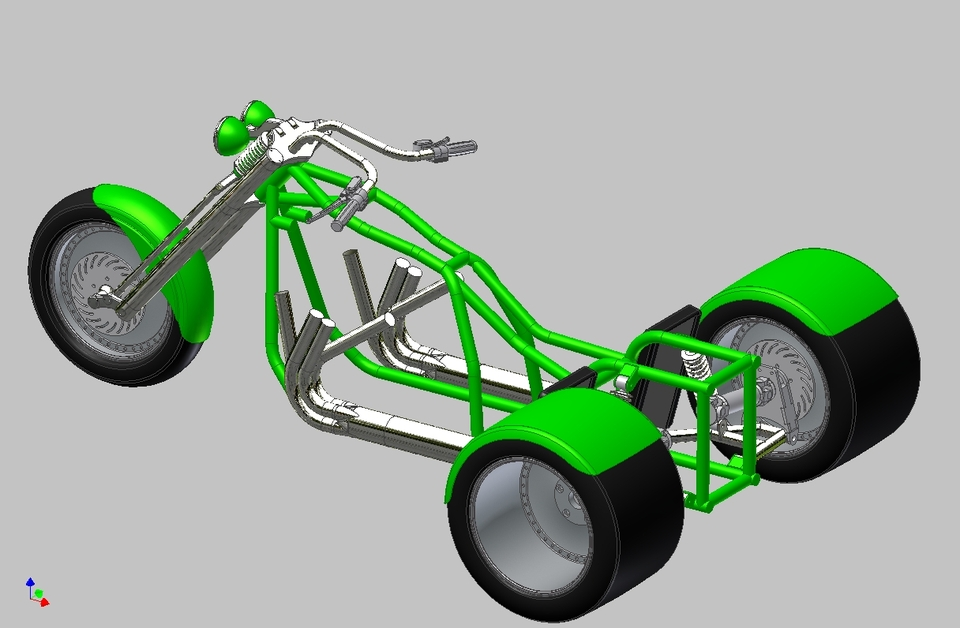V8 trike | 3D CAD Model Library | GrabCAD