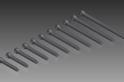 DIN 94 Split Pins (Cotter Pins). Nom. Diameter 10mm