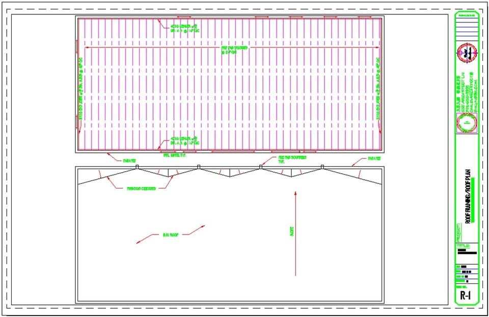 Maintenance Building Roof Masonry Flat Truss Parapet   AutoCAD   3D CAD  Model   GrabCAD