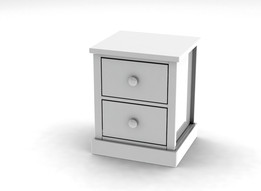 Bedside chest with 2 drawers