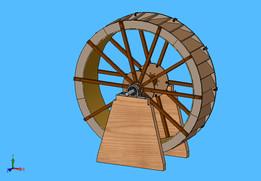 Pond Waterwheel