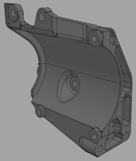 GM 12554026 AC Compressor Bracket | 3D CAD Model Library | GrabCAD