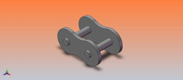 #40 ROLLER CHAIN OUTER LINK
