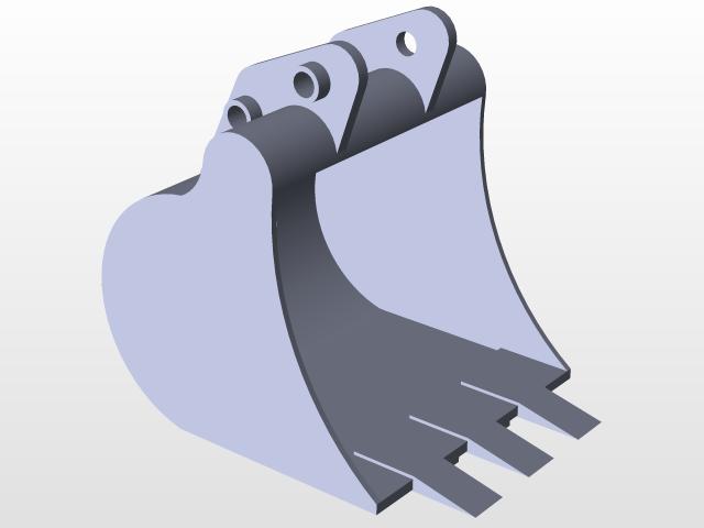 Mini Excavator Bucket | 3D CAD Model Library | GrabCAD