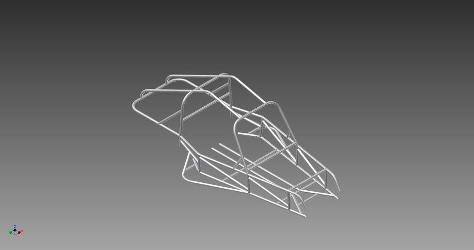 Two Seat Rear Engine Dune Buggy Frame | 3D CAD Model Library | GrabCAD