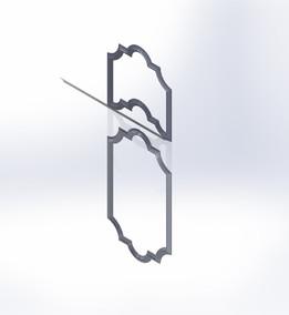 termoform kalıp kapı desen modeli