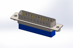 D_sub 25pin, Crimp - SOLIDWORKS\STEP