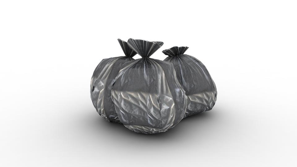 garbage bags | 3D CAD Model Library | GrabCAD
