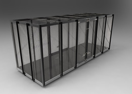 Truck back cage