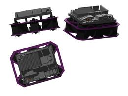 Hexapod body for UDOO board & Dynamixel RX28H Servos.