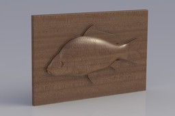 wooden carp - fishing trophy