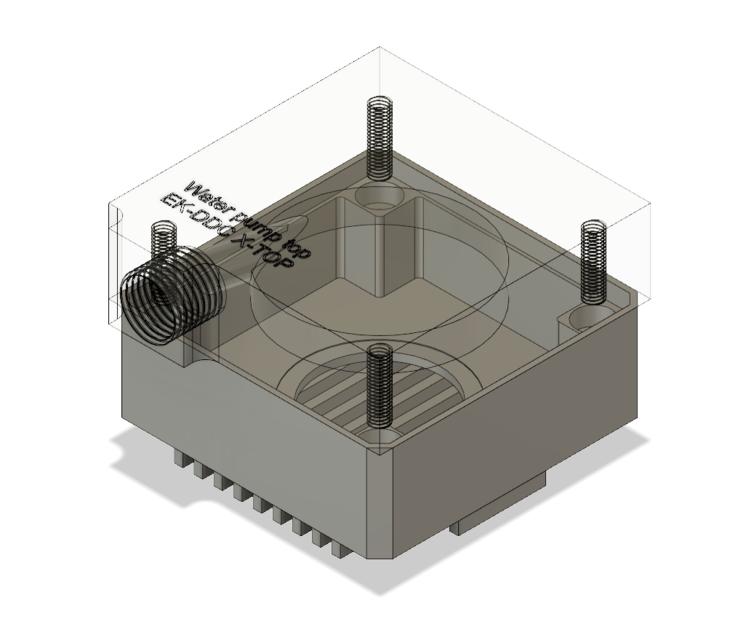 EKWB DDC 3 2 pump with X-Top | 3D CAD Model Library | GrabCAD