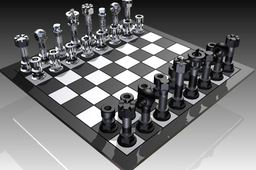 Nuts and bolts chessboard