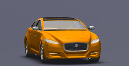 2011 Jaguar XJ-L /1:44/Solid model/Shelled.No error on Check entity.